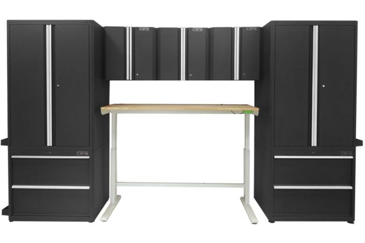 Bộ tủ đen và bàn làm việc nâng hạ điện tử CSPS 1