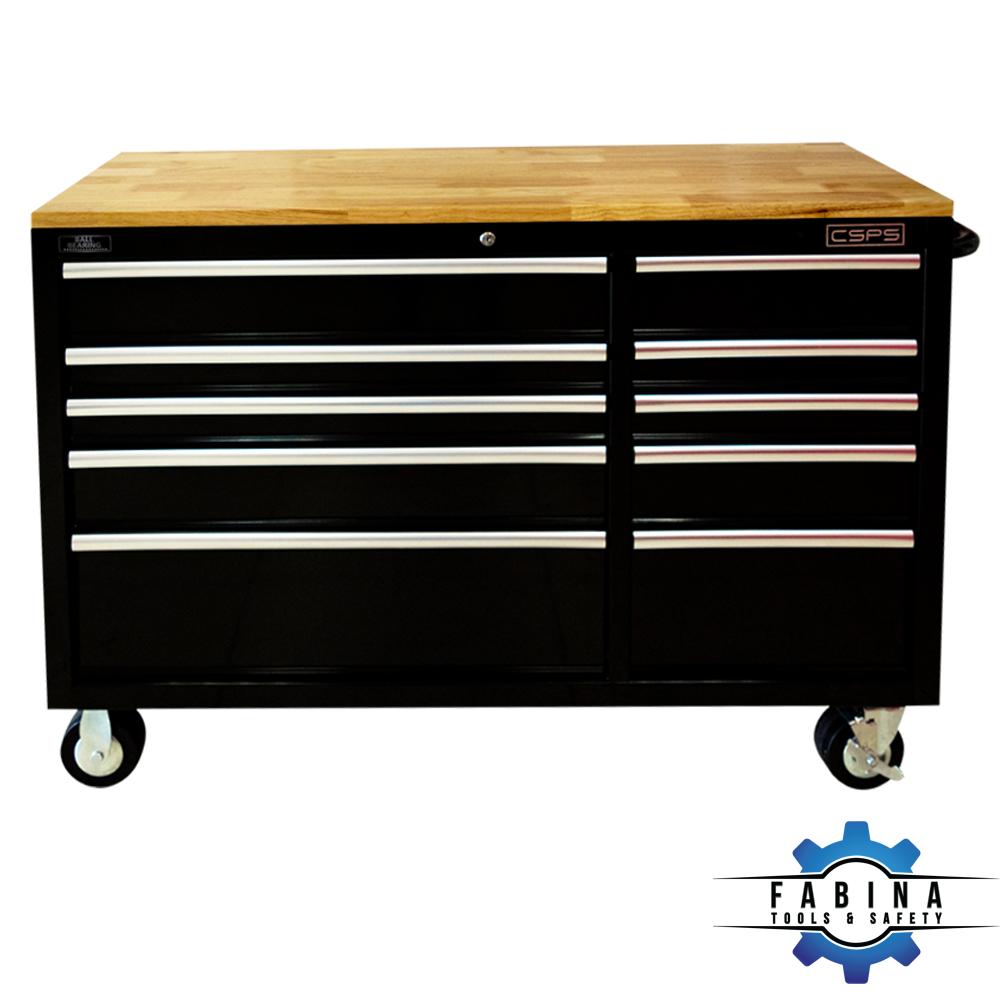 Tủ đồ nghề 10 ngăn mặt ván gỗ CSPS