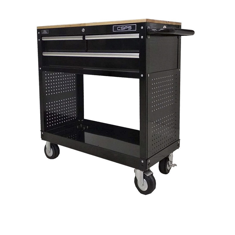 Tools Cabinet 3 drawers wood top CSPS