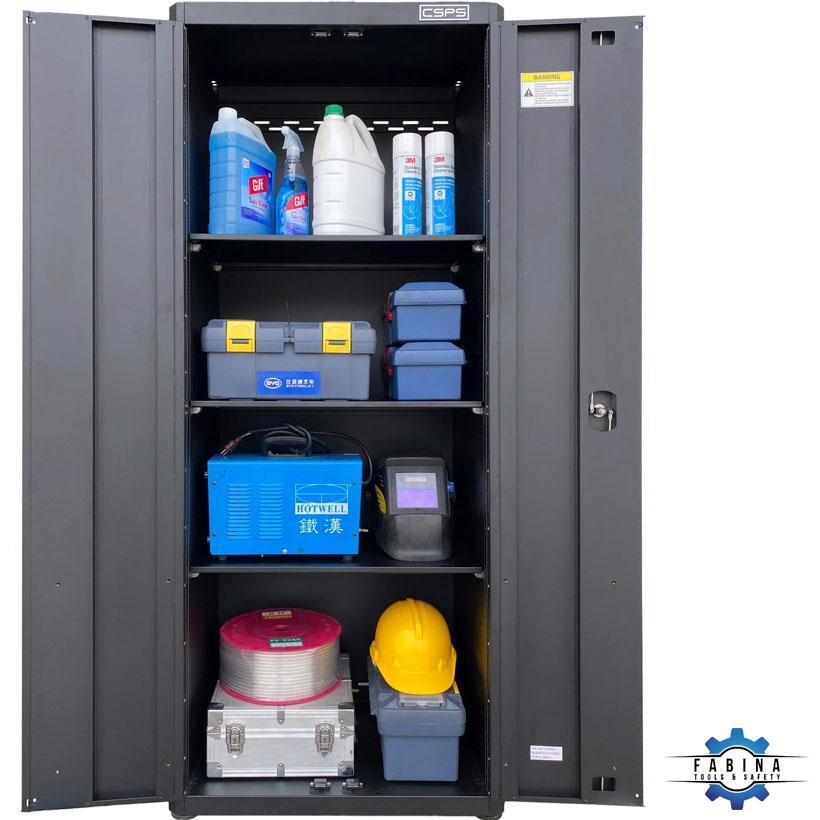 Tủ đựng dụng cụ 2 cánh mở màu đen CSPS 91cm W x 61.5cm D x 136cm H